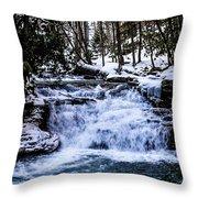 Mill Creek Falls Wv Throw Pillow