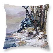 Winter At The Baltic Sea  Throw Pillow