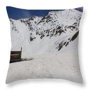 Winter At The Boston Mine 3 Throw Pillow