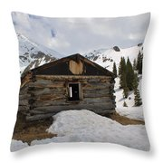 Winter At The Boston Mine 4 Throw Pillow