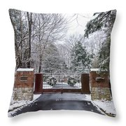 Winter At The Gate Throw Pillow