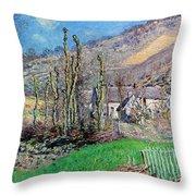 Winter At The Val De Falaise Throw Pillow