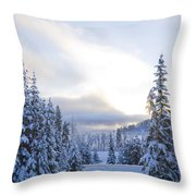 Winter Atmosphere Throw Pillow