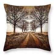 Winter Avenue Throw Pillow