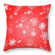 Winter Background With Snowflakes. Throw Pillow