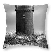 Winter Baltic Sea Lighthouse Throw Pillow