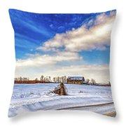 Winter Barn 3 - Paint Throw Pillow
