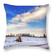 Winter Barn 3 Throw Pillow
