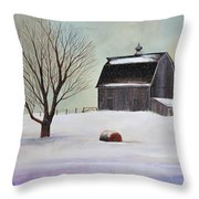Winter Barn II Throw Pillow