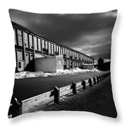 Winter Bates Mill Throw Pillow by Bob Orsillo