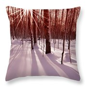 Winter Bling Throw Pillow
