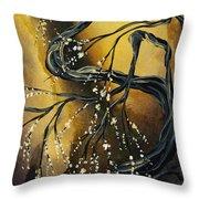 Winter Blossom By Madart Throw Pillow