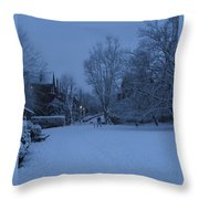 Winter Blue Britain Throw Pillow