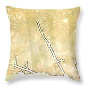 Winter Born Throw Pillow