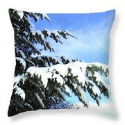 Winter Boughs Throw Pillow