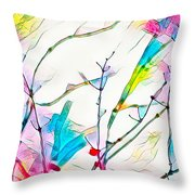 Winter Branch Colors Throw Pillow