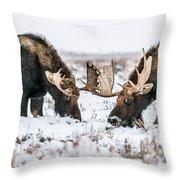 Winter Buddies Throw Pillow