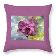 Winter Cabbage Throw Pillow
