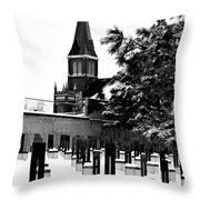 Winter Chairs Throw Pillow
