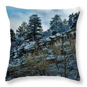 Winter Cliff Throw Pillow