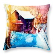 Winter Color Throw Pillow
