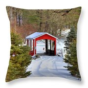 Winter Crossing Throw Pillow