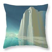 Winter Crystal Throw Pillow