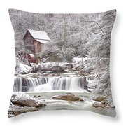 Winter Day At The Mill  Throw Pillow