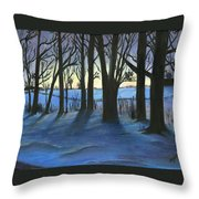 Winter Day's End Throw Pillow