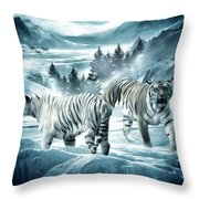 Winter Deuces Throw Pillow