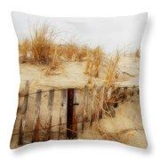 Winter Dune - Jersey Shore Throw Pillow