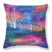 Winter Embraces Spring Throw Pillow