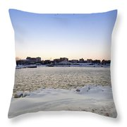 Winter Evening In Racine Throw Pillow