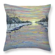 Winter Expression Sunrise Throw Pillow