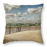 Winter Fences In Grand Haven 2.0 Throw Pillow