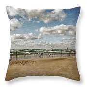 Winter Fences In Grand Haven 3.0 Throw Pillow