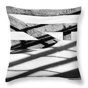 Winter Fences Throw Pillow