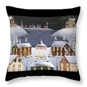 Winter Festival Throw Pillow