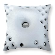 Winter Filigree Throw Pillow
