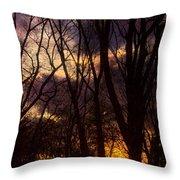 Winter Forest Sunrise Throw Pillow