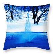 Winter Fountain 2 Throw Pillow