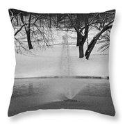 Winter Fountain Throw Pillow