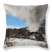 Winter Freight Special Throw Pillow