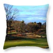 Winter Golf Throw Pillow
