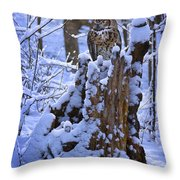 Winter Guest Throw Pillow