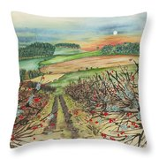 Winter Hedgerow Throw Pillow