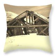 Winter History 2 Throw Pillow