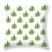 Winter Holiday Trees 2- Art By Linda Woods Throw Pillow