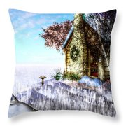 Winter Home Throw Pillow