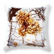 Winter Hydrangea Throw Pillow